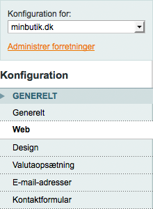Magento - Konfiguration