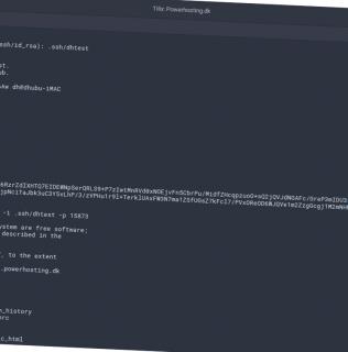 Guide: Forbind via SSH til Web/Magentohoteller hos Powerhosting – Connect via SSH to Web/Magento hotels at Powerhosting